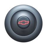 1967-2002 Camaro GT Performance GT9 Billet Horn Button Large Black With Red Bowtie: 21-1162