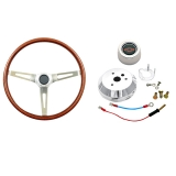 GT Performance GT3 Classic GM Wood Steering Wheel Kit, Early GM: GT14-5437-1K