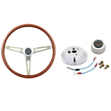 GT Performance GT3 Classic GM Wood Steering Wheel Kit, Late GM: GT14-5437-2K