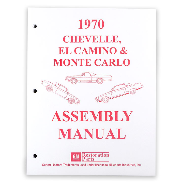 1970 Chevelle Factory Assembly Manual