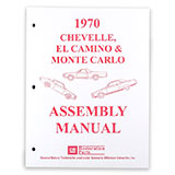 1970 El Camino Factory Assembly Manual