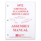1972 El Camino Factory Assembly Manual