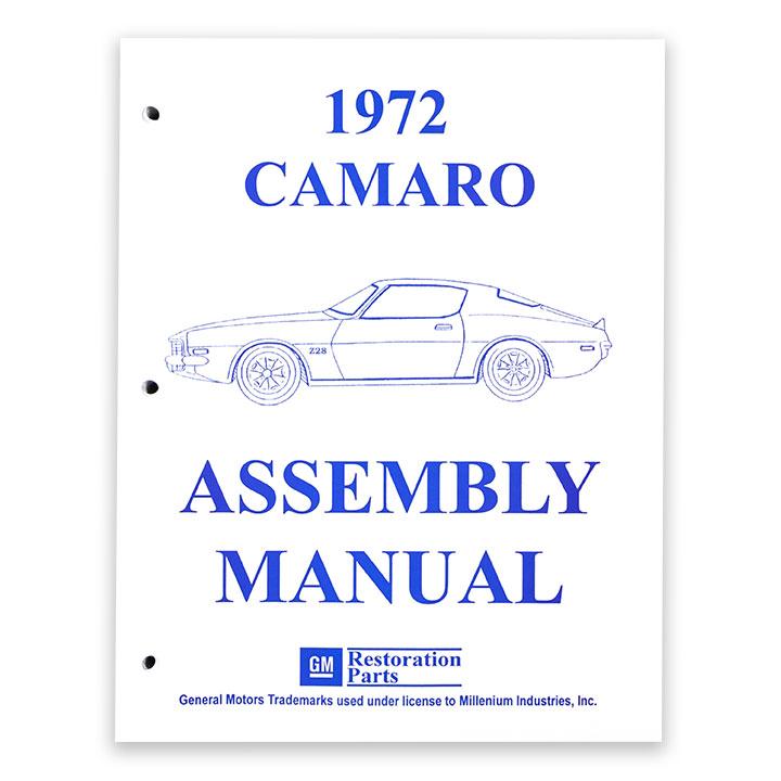 1972 Camaro Factory Assembly Manual