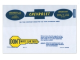 1967-1968 Chevelle Factory Owners Manual Bag