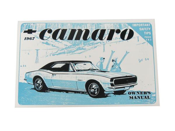 1967 Camaro Factory Owners Manual