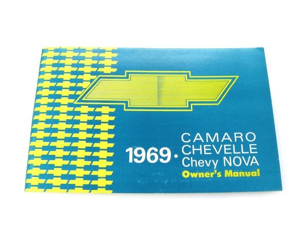 1969 Camaro Factory Owners Manual