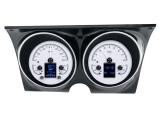 1967-1968 Camaro Dakota Digital HDX Instrument System - Silver Alloy Gauge Face