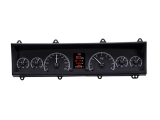 1969-1976 Nova Dakota Digital HDX Instrument System - Black Alloy Gauge Face