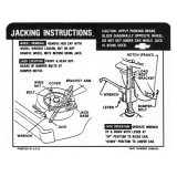1968 Chevelle Trunk Jacking Instructions Decal