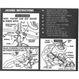 1970-1973 Camaro Trunk Jacking Instructions Decal
