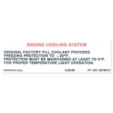 1970-1974 Nova Cooling System Decal