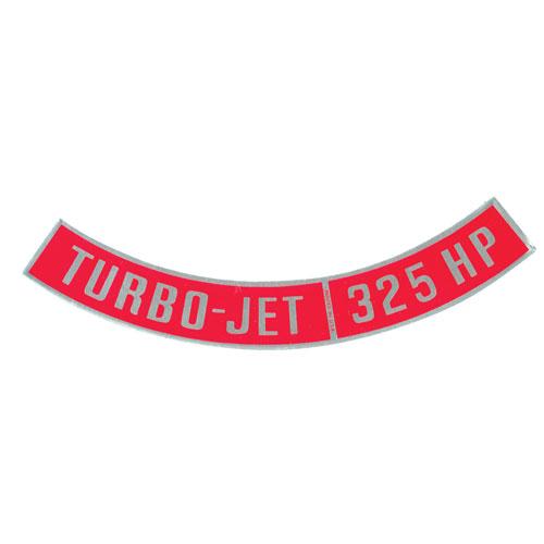 1964-1972 Chevelle Big Block Air Cleaner Decal, Turbo Jet 325 Horsepower