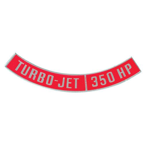 1964-1972 Chevelle Big Block Air Cleaner Decal, Turbo Jet 350 Horsepower
