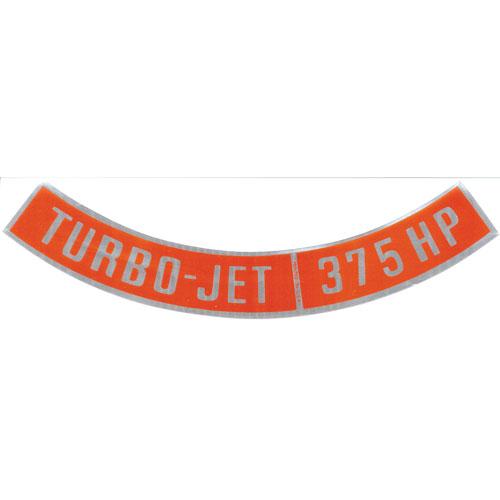 1964-1972 Chevelle Big Block Air Cleaner Decal, Turbo Jet 375 Horsepower