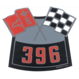 1962-1979 Nova Big Block Air Cleaner Decal, 396 Cross Flags
