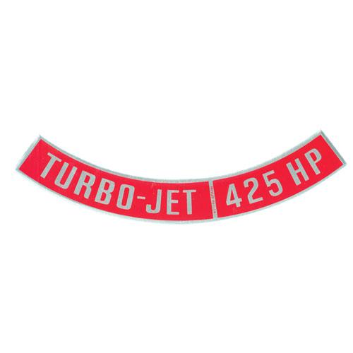 1962-1979 Nova Big Block Air Cleaner Decal, Turbo Jet 425 Horsepower