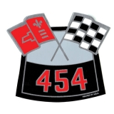 Camaro Big Block Air Cleaner Decal, 454 Cross Flags