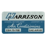 1964-1972 Chevelle Harrison A/C Box Decal