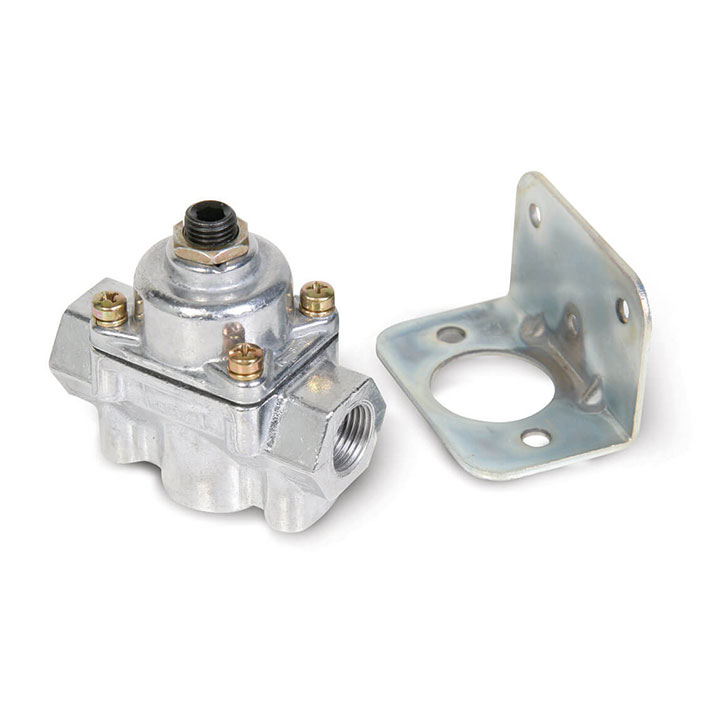 1967-2019 Camaro Holley Carbureted Bypass Fuel Pressure Regulator, 2 Port, 4.5-9 PSI: 12-803BP