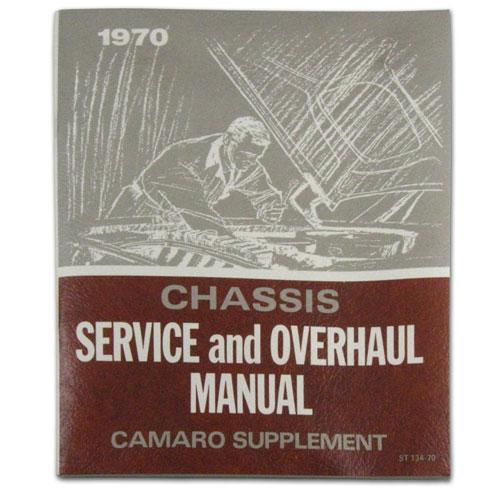 1970 Camaro Chevrolet Service Manual Supplement