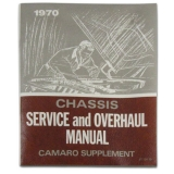 1970 Camaro Chevrolet Service Manual Supplement
