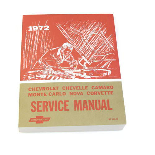 1972 Camaro Chevrolet Service Manual