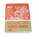 1972 Camaro Chevrolet Service Manual