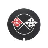 1967-1981 Camaro Small Block Finned Aluminum Valve Cover Flag Decal