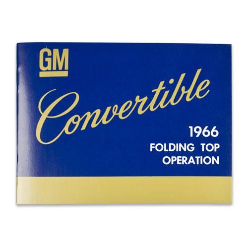 1966 Chevelle Convertible Top Manual