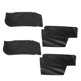 1968-1972 Chevelle Rear Arm Rest Piston Covers, Black