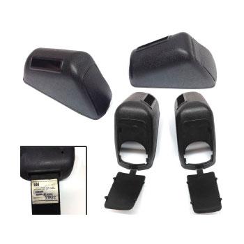 1971-1974 El Camino Seat Belt Retractor Covers Pair - Robbins 3200 w/ Access Doors