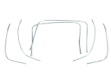 1968-1972 El Camino OE Molded Bucket Seat Chrome Kit