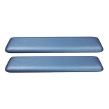 1965-1967 El Camino Front Arm Rest Pads Bright Blue
