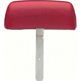 1969 Camaro Bucket Seat Headrests, Curved Bar, Red M30