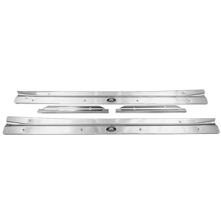 1968-1972 Nova Coupe Carpet Sill Plate Kit w/ Rear Extensions