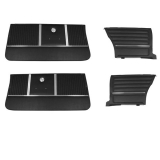 1964 Chevelle Coupe Door Panel Kit Black