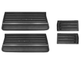 1965 Chevelle Convertible Door Panel Kit Black