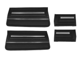 1966 Chevelle Convertible Door Panel Kit Black