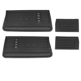 1967 Chevelle Convertible Door Panel Kit Black