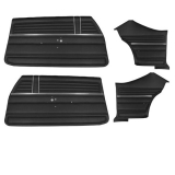 1968 Chevelle Coupe Door Panel Kit Black