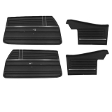1968 Chevelle Convertible Door Panel Kit Black