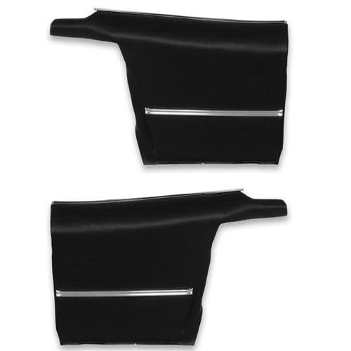 1968-1969 Camaro Rear Coupe Deluxe Black Door Panels