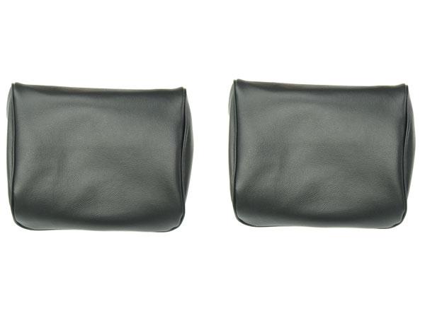 1968-1971 Nova Headrest Covers, Buckets, Black 10