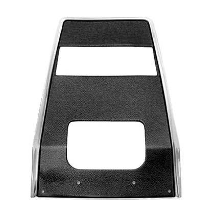 1967-1968 Camaro Center Dash Panel Black Radio Delete Non-AC