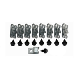 1973-1977 El Camino Fuel Line Clip Kit 23 PC (With Return)