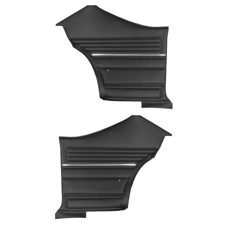 1968 Chevelle Coupe Rear Door Panels, Pre-Assembled, Black