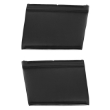 1967 Camaro Convertible Standard Rear PUI Door Panels, Black