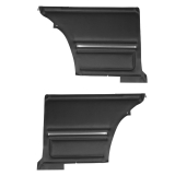 1967 Camaro Coupe Standard Rear PUI Door Panels, Black, Pre-Assembled