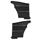 1968 Camaro Coupe Standard Rear PUI Door Panels, Black, Pre-Assembled