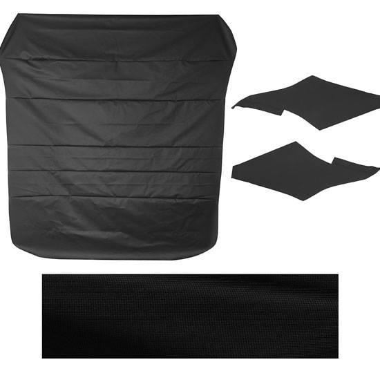 1968-1969 Camaro Headliner Kit with Side Sails, Black Ribbed Grain
